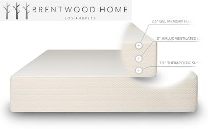 brentwood home bamboo gel memory foam