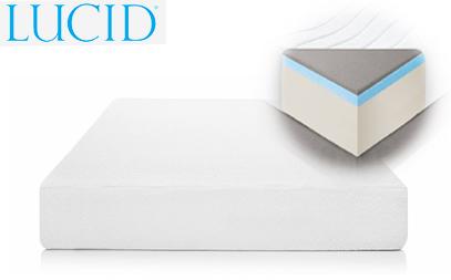 lucid 14 inch plush memory foam mattress