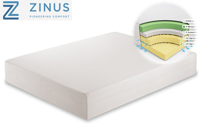 zinus memory foam 12 inch green tea