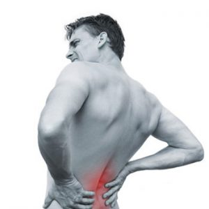 picture of a man suffering from back pain