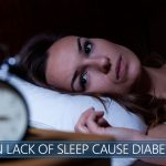 Woman having insomnia and suspecting diabetes