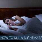 Scared woman lying in bed like she had a nightmare