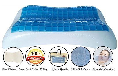 bedroom magnificent sleep innovations contour memory foam pillow the 7 top rated cooling cold head pillow reviews review guide