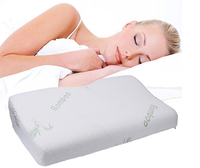 sleeping on bamboo pillow