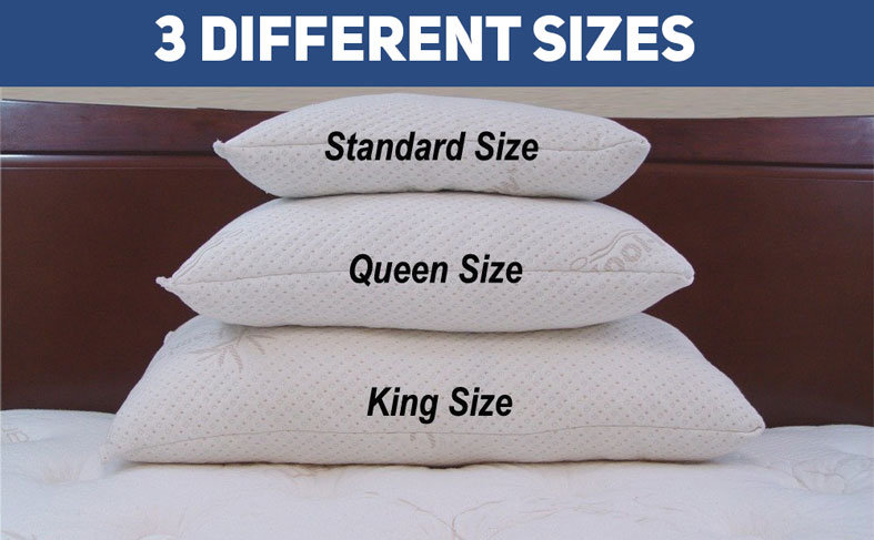 Snuggle-Pedic 3 different pillow sizes