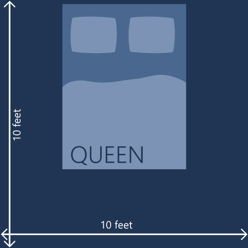Mattress size chart and bed dimensions the definitive guide for What size bed for a 10x10 room