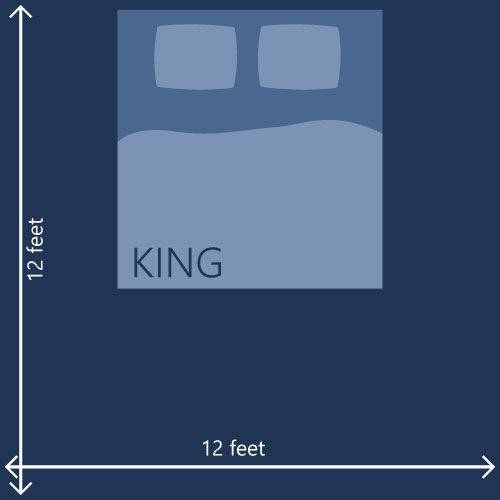 10x10 Bedroom King Bed