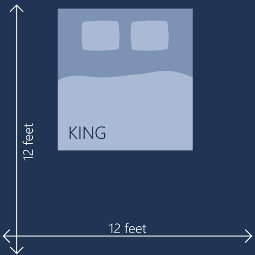 king size compared to california king size