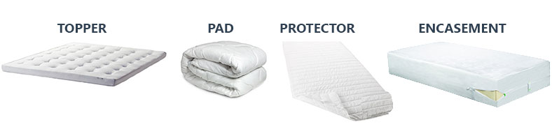 mattress topper, pad, protector and encasement comparation