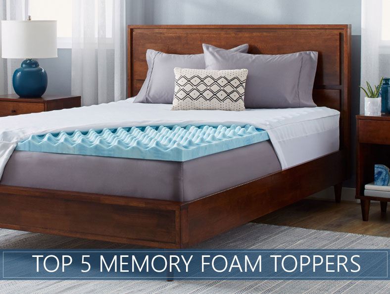 Our 5 Highest Rated Memory Foam Mattress Topper Reviews For 2019