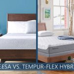 beds compared leesa and tempur-flex hybrid