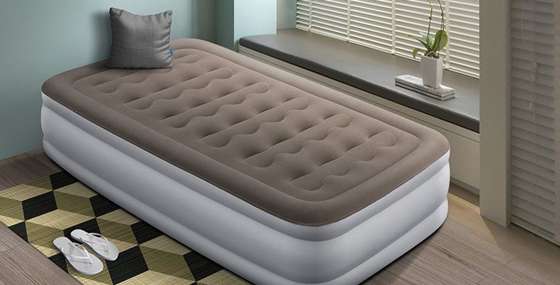 air bed in bedroom