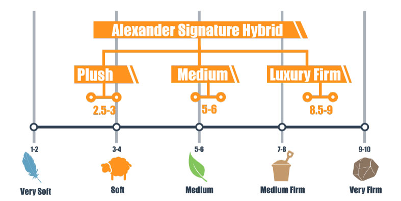 Alexander Signature Hybrid firmness for 3 models