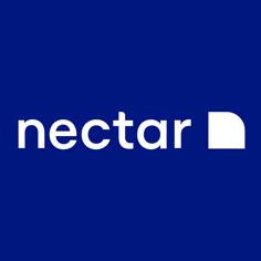 nectar logo blue background
