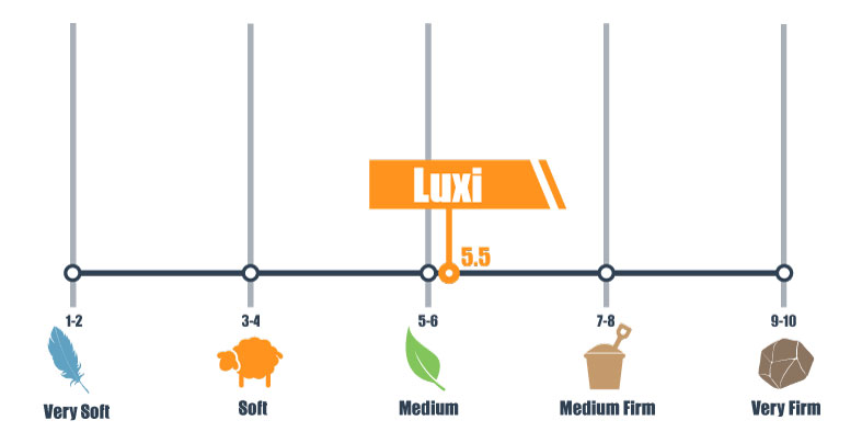 firmness level for Luxi bed