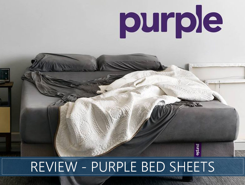 overview of purple bed sheets