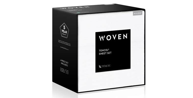 tencel bed sheets in box