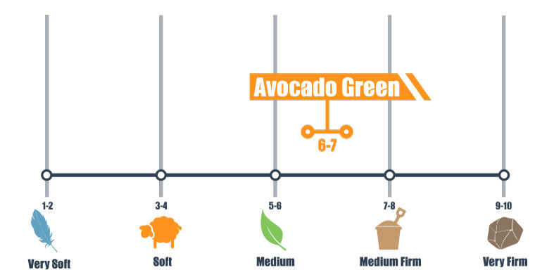 firmness scale for avocado green bed