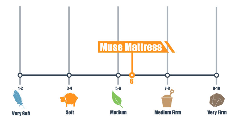 firmness scale for muse bed