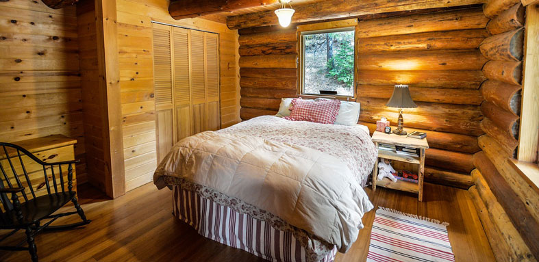 rustic bedroom interior