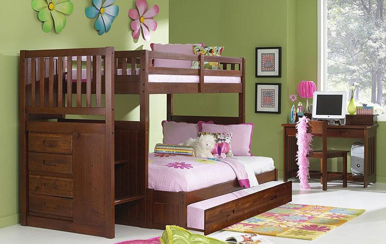 well set bunk bed in bedroom