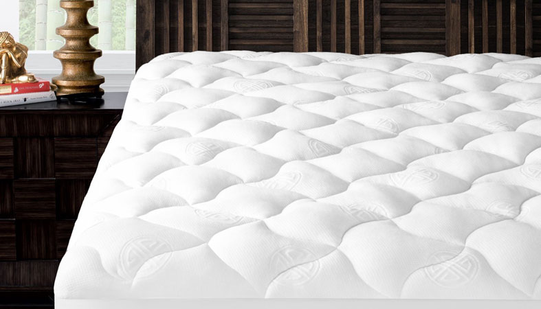 mattress topper on bed