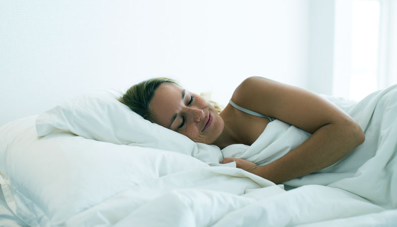 woman sleep on pillow