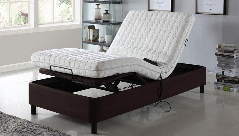 adjustable bed in bedroom