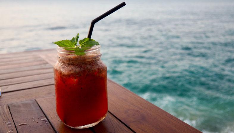 tart cherry juice by the sea