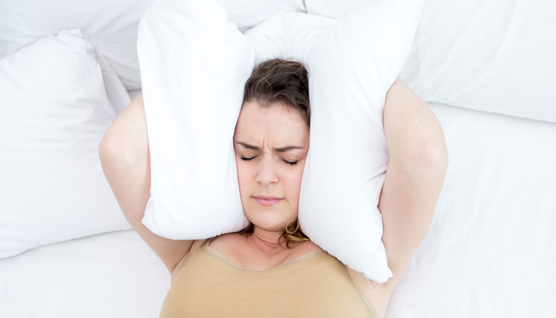 woman is suffering from insomnia
