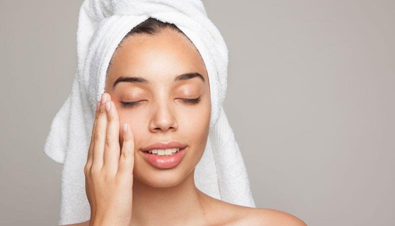 woman enjoying her soft skin