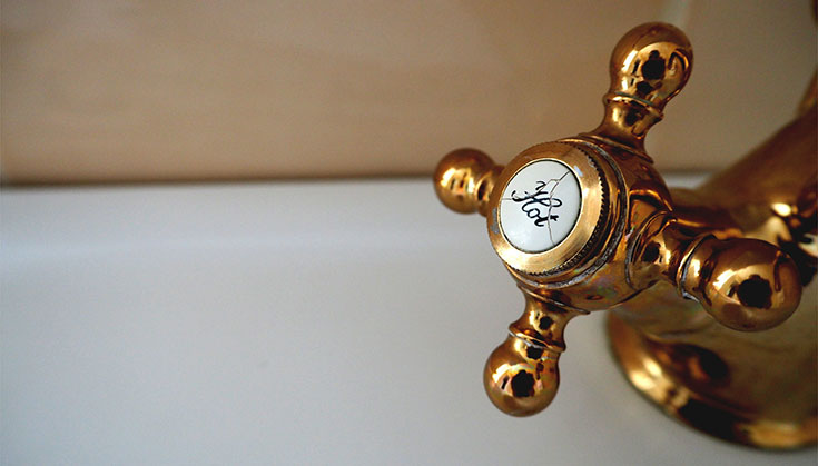hot water faucet