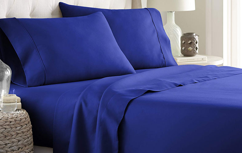 Blue Bed Sheets Set