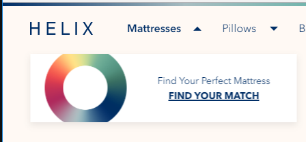 helix find your perfect mattress