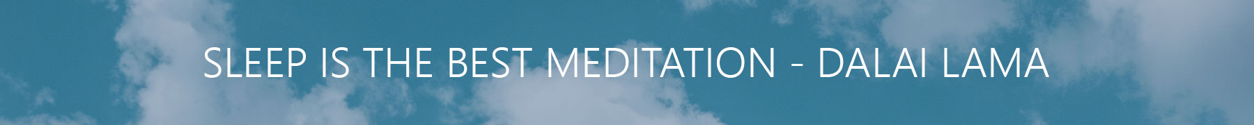 sleep is the best meditation image