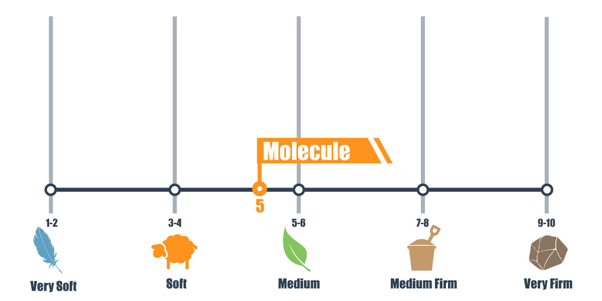 Firmness scale of Molecule mattress