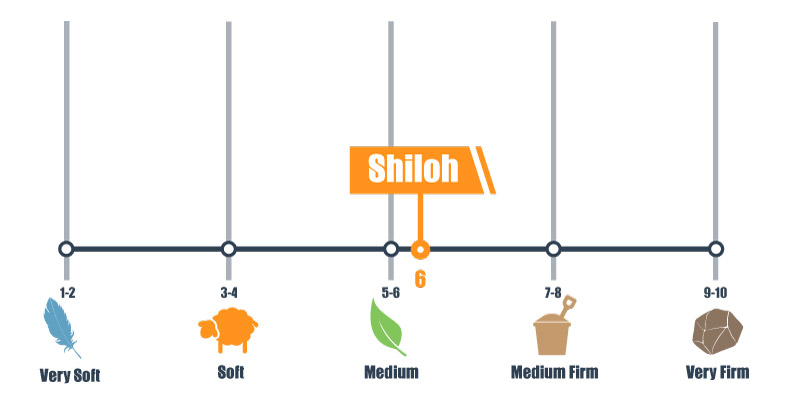 Firmness scale for the Shiloh mattress