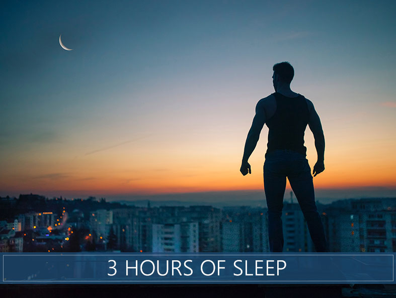 what's the effect of 3 hours sleep