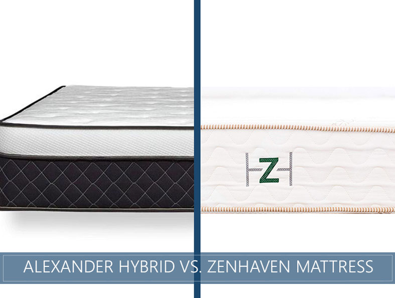 Comparison of Alexander Hybrid vs. Zenhaven mattress