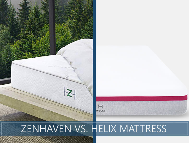 Our comparison of zenhaven and helix bed