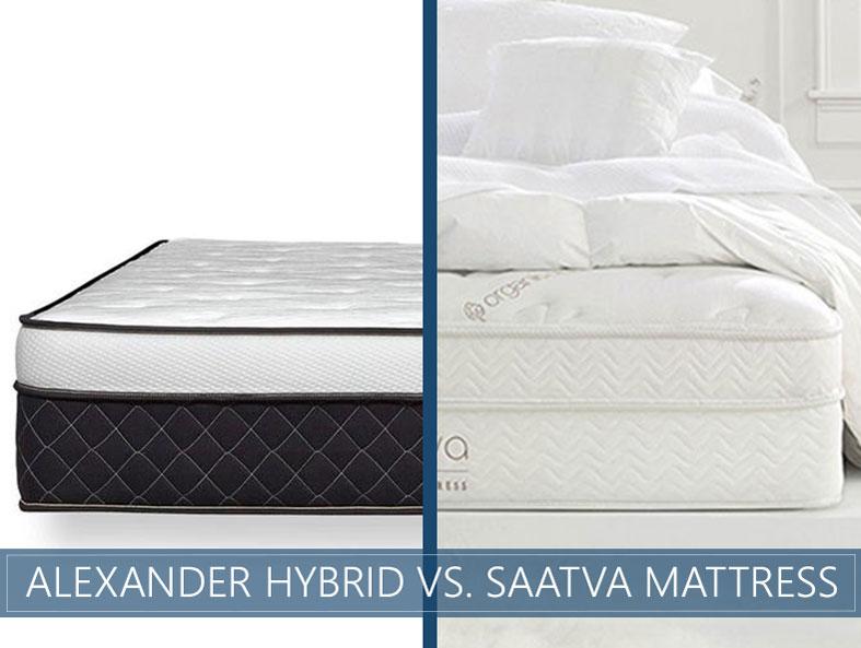 Our in depth comparison of Alexander signature hybrid vs. saatva mattress