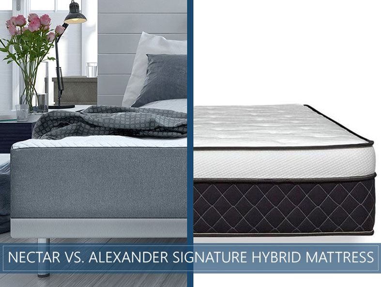 our in depth comparison of nectar and alexander signature hybrid mattress