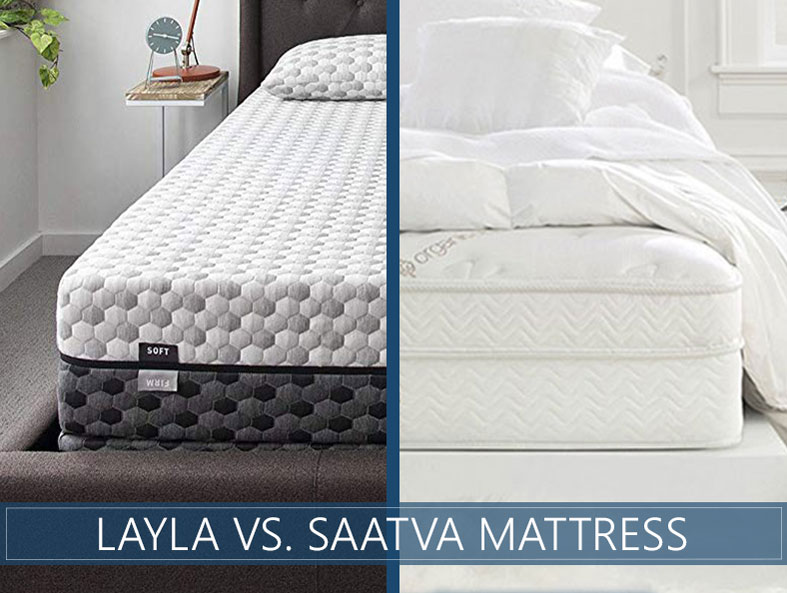 Comparison in depth of layla and saatva bed