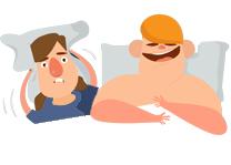 Illustration Of a Man Snoring