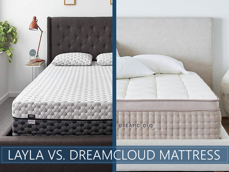 Layla and Dreamcloud comparison bed