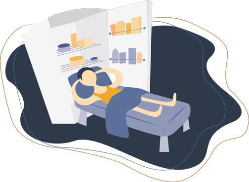 Sleeping In a Cold Room Illustration