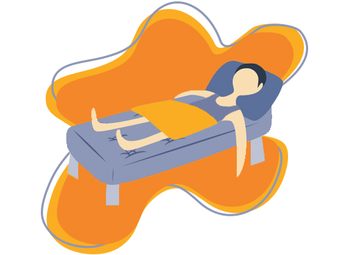 Sleeping On A Cooling Mattress Illustration