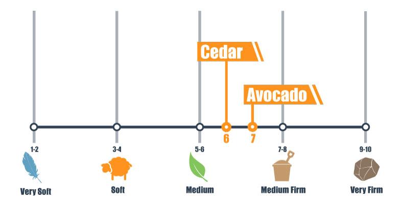 firmness scale for avocado and cedar