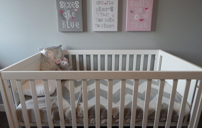 big baby gray crib