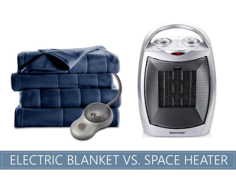 electric blanket versus space heater